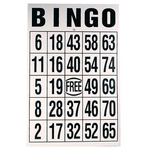 Buy Giant Print Bingo Card - Black on White Background