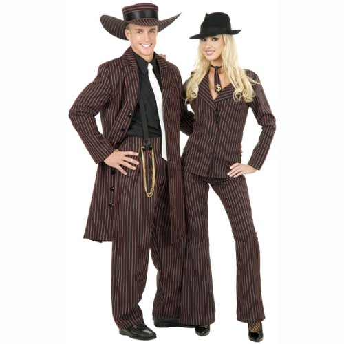 Zoot Suit Black/Red Adult Plus Costume (Men's Adult Costume)
