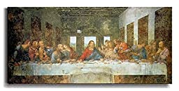 Artistic Home Gallery 1838561S The Last Supper By Da Vinci Premium Stretched Canvas Wall Art