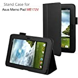 Exact PU Leather Case Cover With Stand for ASUS MeMO Pad ME172V 7-Inch Android Tablet Black