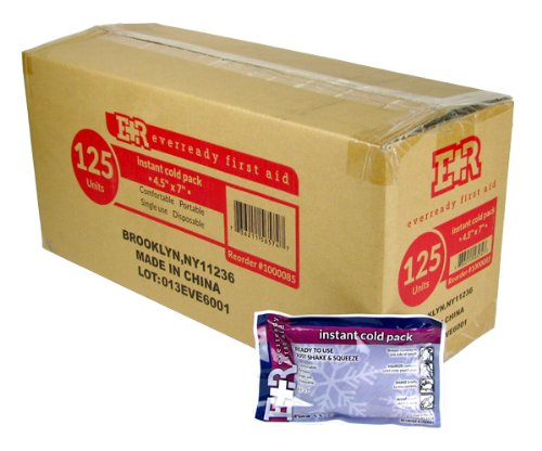 Ever Ready First Instant Cold Pack, 4.5x7, 125-count (Instant Cold Packs Bulk compare prices)
