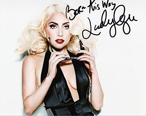 SIGNED PHOTO LIMITED EDITION-CERT LADY GAGA-STAMPA AUTOGRAFATA FIRMA FIRMATA SIGNIERT AUTOGRAM