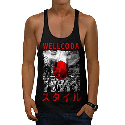 Japan Style Flag Japanese Flag Men NEW S Gym Tank Top   Wellcoda