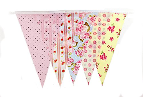 30ft Vintage Baby Shower Tea Party Banner Bunting Party Decoration Banner (C1006) (Baby Shower Tea compare prices)