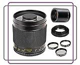 500mm f/8.0 Manuel Focus Telephoto Mirror Lens + 2x Teleconverter = 1000mm For Nikon 3000, D3100, D3200, D3300, D5000, D5100, D5200, D5300, D5500, D7000, D7100, DF, D3, D3S, D3X, D4, D40, D40x, D50, D60, D70, D70s, D80, D90, D100, D200, D300, D600, D610,