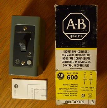 Allen bradley manual motor starter 600 tax4 b amazon for Allen bradley manual motor starter