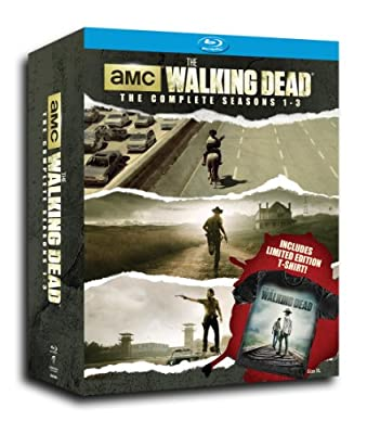 The Walking Dead SSN 1-3 with Limited Edition T-Shirt [Blu-ray]