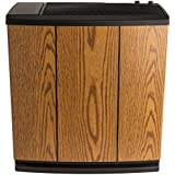 AIRCARE H12-300HB 4-Speed Whole-House Console-Style Evaporative Humidifier, Light Oak, Black Trim