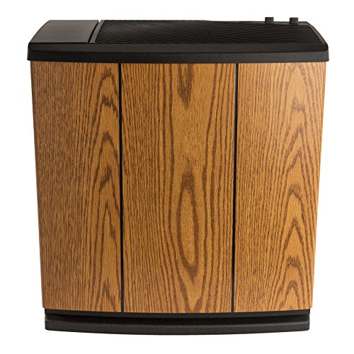 AIRCARE H12-300HB 4-Speed Whole-House Console-Style Evaporative Humidifier, Light Oak, Black Trim - 1