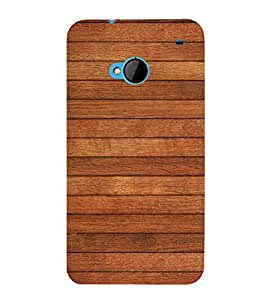 Brown Wood Texture 3D Hard Polycarbonate Designer Back Case Cover for HTC One M7 :: HTC M7