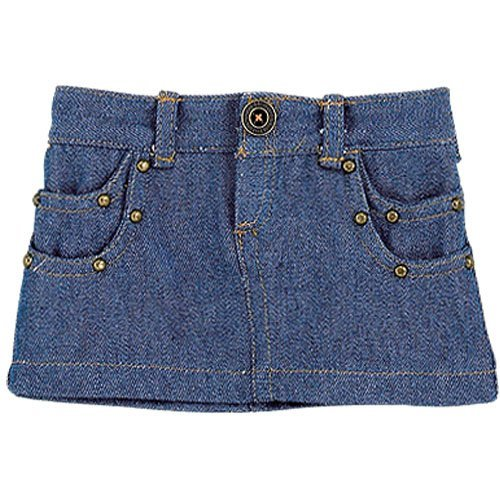 Denim Studded Mini Doll Skirt, Doll Clothes/Clothing Fits 18 Inch American Girl Dolls