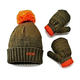 Carter\'s Adventure Gear Outfitter Knit Hat & Mitten Set 0-9 Month