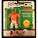 HERMAN MOORE / UNIVERSITY OF VIRGINIA CAVALIERS * 1997 NCAA College Football * 6.5 Inch * Best Heroes of the Gridiron Fully Articulated Action Figure & Removable Football Helmet ~ Starting Line Up