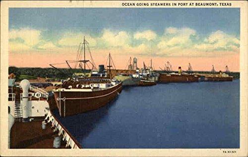 Ocean Going Steamers in Port Beaumont, Texas