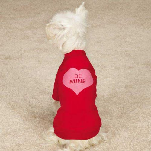 Large Valentine's Day Be Mine Dog Tee