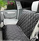 4Knines Rear Car Seat Split Cover - Fitted Design (Black, Regular - Frustration Free Packaging)