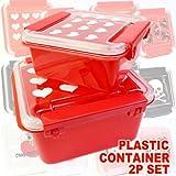 ♪2個でオトク!お弁当に保存に大活躍!プラスチック製容器・2個セット・弁当箱・ランチボックス