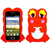 Frog Silicone Case Cover Skin For Samsung Galaxy Ace S5830 / Red