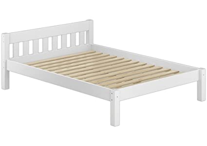Solo-legno 60° 38-12 W Einzelbett con lamelle, legno, bianco, 200 x 130 x 70 cm