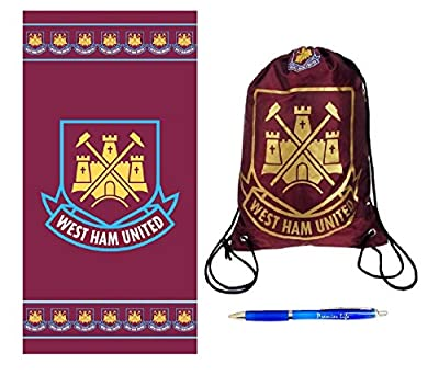 Back to School with West Ham United FC Gym Bag And Towel plus FREE Pen