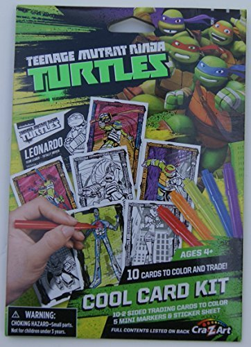 Teenage Mutant Ninja Turtles Cool Trading Card Kit (10 Cards, 5 Markers, 1 Sticker Sheet)