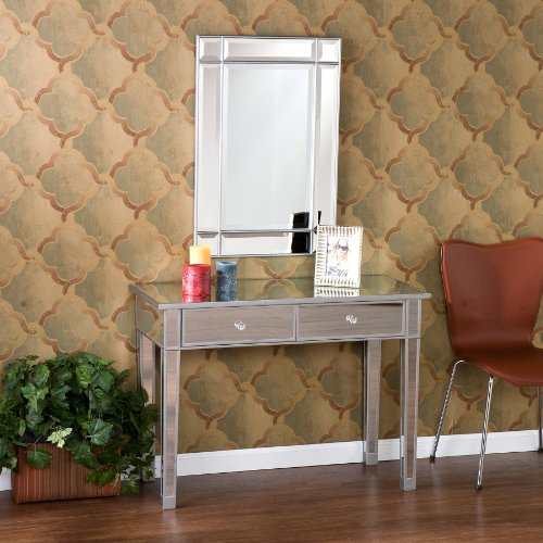 SEI Mirage Mirrored 2-Drawer Console Table