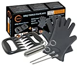 TeiKis Silicone BBQ Gloves (1 Pair) + Bear Claw / Paw (1 Pair) + Seasoning Injector Grilling (1 injector) - TeiKis Grill Set (3 in 1)