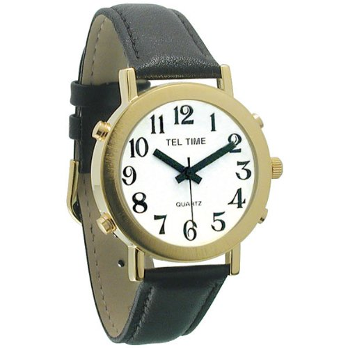 s watches mens tel time gold colored talking