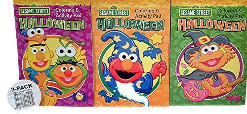 Elmo, Zoe, Bert & Ernie Halloween Coloring & Activity Pad Set