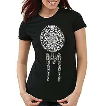 style3 Spaceship II T-Shirt Womens Enterprise Star Trek, Color:Black;T-Shirt Größe Damen:XS
