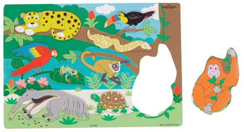 Small World Toys Ryan'S Room - Wood Rainforest Puzzle front-650638