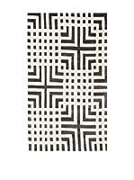 Tapis a Porter Alfombra Vision Greco Blanco/Negro 120 x 180 cm