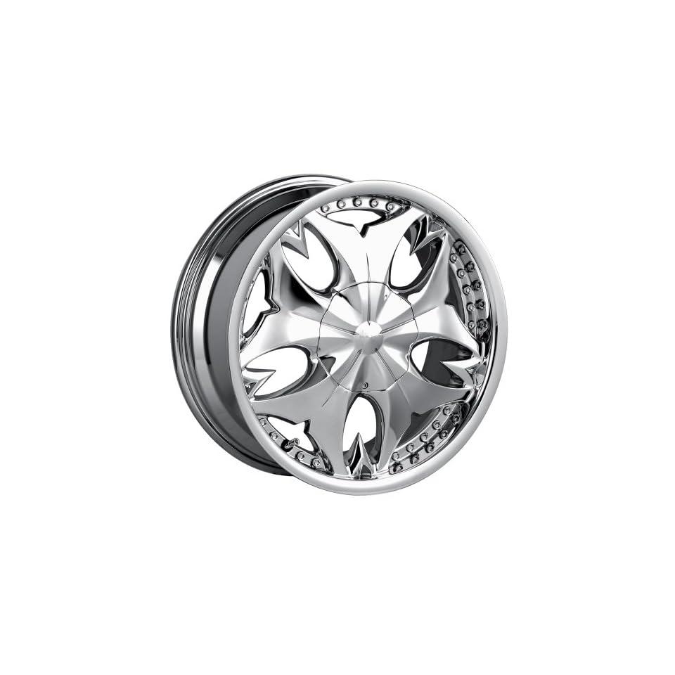 17x7 Mazzi Fatal (345) (Chrome) Wheels/Rims 5x110/115 (345C 7711) Automotive
