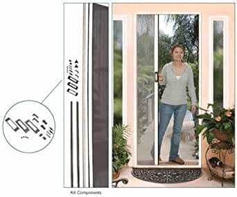 Retractable screen door kit euro style 96 height for Retractable screen french door review