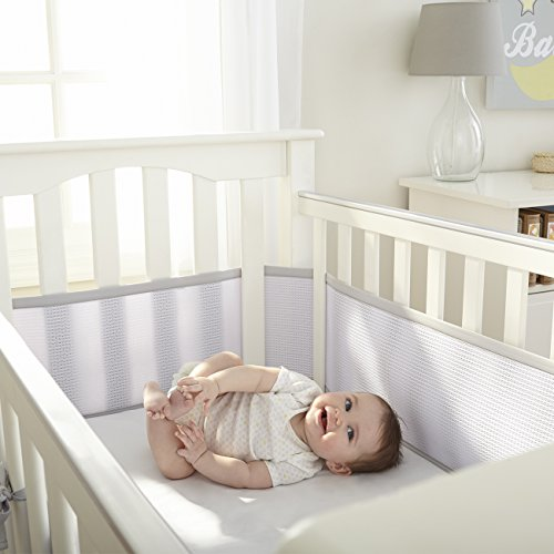 breathablebaby deluxe breathable mesh crib liner gray