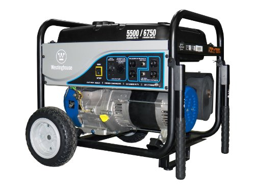 Westinghouse WH5500 Portable Generator, 5500 Running Watts/6750 Starting Watts