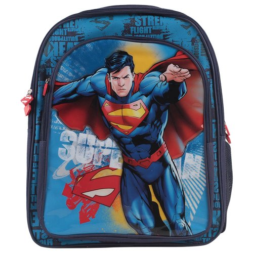 "Superman Superman School Bag Standing - 16"" (Blue)"