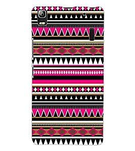 ColourCraft Tribal Pattern Design Back Case Cover for LENOVO A7000 TURBO
