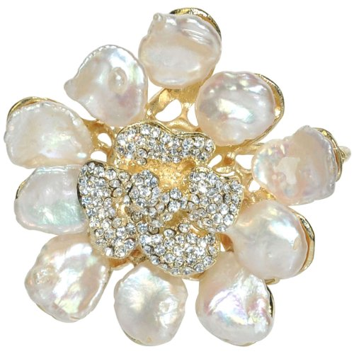 Abstract Cultured Pearl Flower Petal Crystal