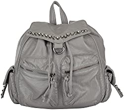 Moda King Women's Handbags (Grey) (ModaKing008_A)
