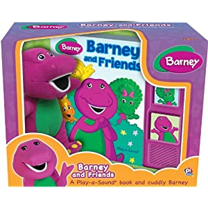Barney and Friends Play-a Sound Book and Cuddly Barney