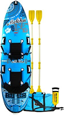 02383 Rave 136 X 35 X 8in Molokai Blue/White Kayak