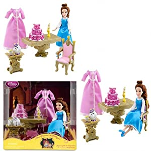 Disney beauty and the beast belle playset mini for Beauty and the beast table and chairs
