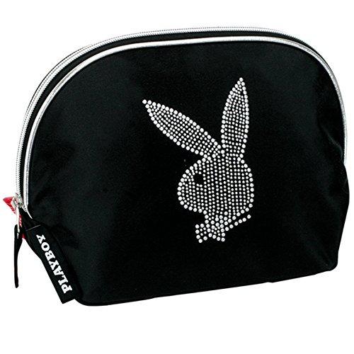 Playboy-Astuccio per toeletta, colore: nero/grigio (Montichelvo 29905)