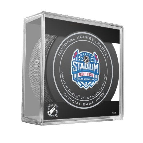 2014 NHL Stadium Series Los Angeles Official Game Puck in Cube - Kings vs. Ducks (Team Canada Hockey Jersey 2014 compare prices)
