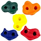 10 Assorted Rock Climbing Holds with Hardware - Jungle Gym or Swing Set Accessory