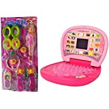 HALO NATION Combo Of English Learner Mini Laptop + Glam Doll With Fashion Accessories - Best Offer