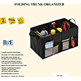 B&E Home Essential - Premium Trunk Organizer Basket with Multiple Compartment Foldable