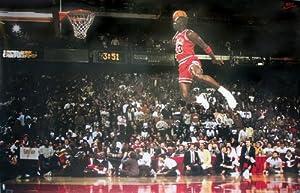 Michael Jordan Poster Slam Dunk Contest - Poster Großformat (88cm x 59,5cm) + 1 Überraschungsposter gratis!