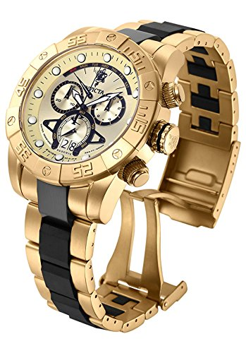 Invicta Men's 54mm Two Tone Steel Bracelet & Case Swiss Quartz Champagne Dial Analog Watch 17965